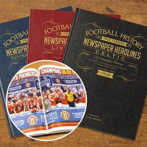 Personalised A3 Football Newspaper Book Leather Cover
