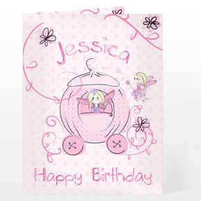Personalised Pumpkin Princess Card