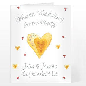 Personalised Golden Anniversary Card
