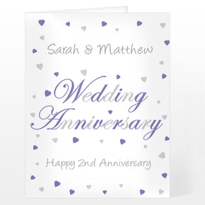 Personalised Wedding Anniversary Card