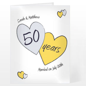 Personalised Perfect love Golden Card