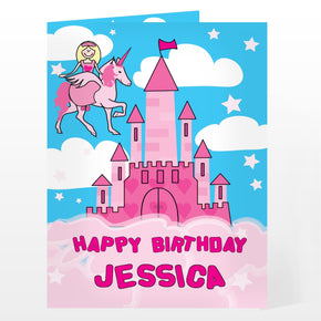 Personalised Princess & Unicorn Card