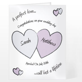 Personalised Perfect Love Wedding Card