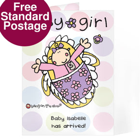 Personalised BOTD Baby Girl card