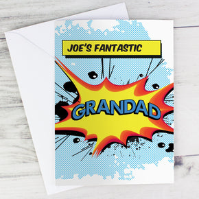 Personalised Comic Book Themed Card