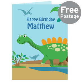Personalised Dinosaur Card