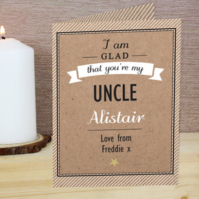Personalised I Am Glad... Card