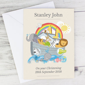 Personalised Noah's Ark Card
