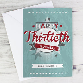 Personalised 50s Retro Card