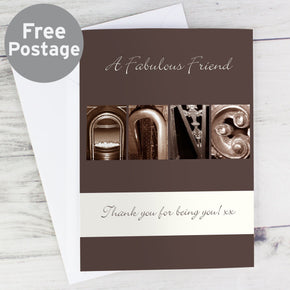 Personalised Affection Art Any Message Card