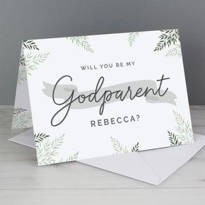 Personalised Godparent Card
