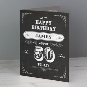 Personalised Vintage Typography Birthday Card