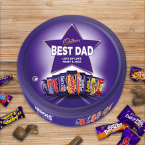Personalised 600g Cadbury Heroes Tin