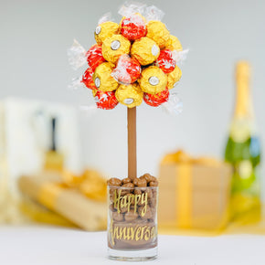 Personalised Ferrero Rocher & Lindt Lindor Sweet Tree