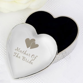 Mother Of Bride Heart Trinket Box