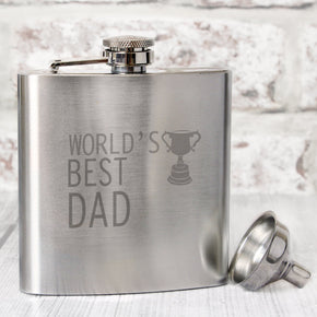 'Worlds Best'  Hip Flask