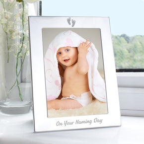 Silver 5x7 Naming Day Photo Frame