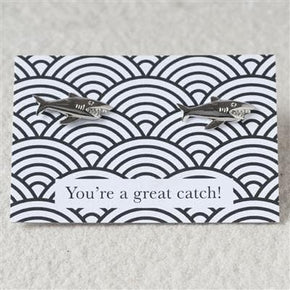 Great Catch Shark Cufflinks