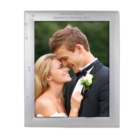 Personalised Diamante Swirl 8x10 Photo Frame