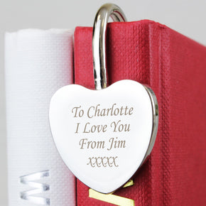 Personalised Silver Heart Bookmark