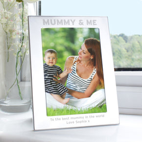 Personalised Silver 5x7 Mummy & Me Photo Frame