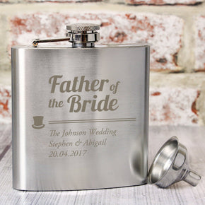 Personalised Father of the Bride Hip Flask