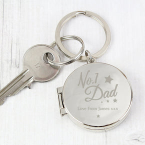 Personalised No.1 Dad Photo Keyring