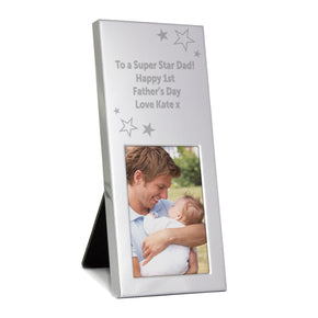 Personalised Stars Small Silver 2x3 Photo Frame