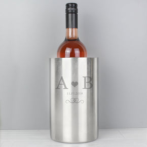 Personalised Monogram Stainless Steel Wine Cooler