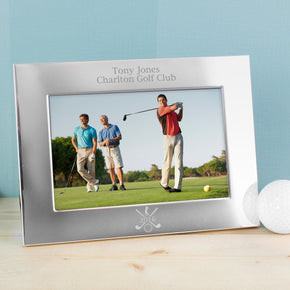 Personalised Silver 6x4 Golf Photo Frame