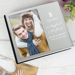 Personalised Anniversary 6x4 Photo Frame Album
