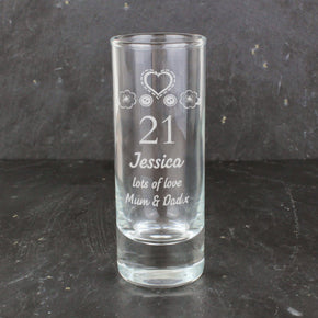 Personalised Birthday Craft Shot Glass Engraved