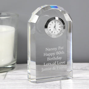 Personalised Crystal Clock