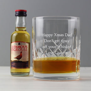 Personalised Cut Crystal & Whisky Gift Set