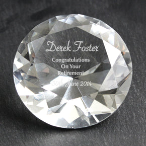 Personalised Occasion Diamond Paperweight