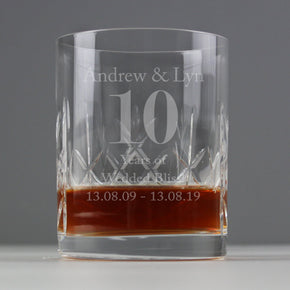 Personalised Big Age Cut Crystal Whisky Tumbler