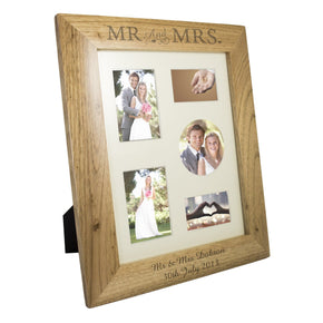 Personalised 8x10 Mr & Mrs Wooden Photo Frame