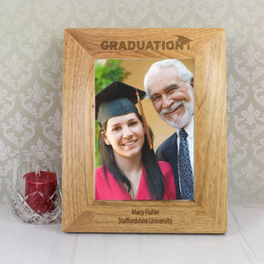 Personalised 5x7 Graduation Wooden Photo Frame