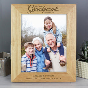 Personalised 'The Best Grandparents' 8x10 Wooden Photo Frame