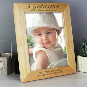 Personalised Godmother 8x10 Wooden Photo Frame