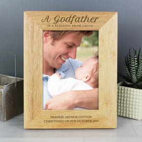 Personalised Godfather Wooden 5x7 Photo Frame