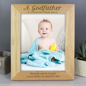 Personalised Godfather 8x10 Wooden Photo Frame