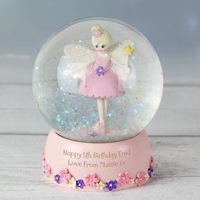 Personalised Fairy Glitter Snow Globe