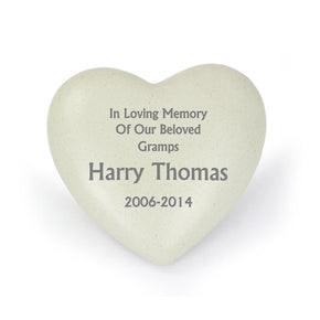 Personalised Heart Memorial
