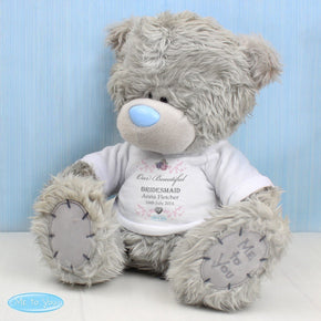 Personalised Me To You Girl's Teddy with T-Shirt: for Bridesmaid and Flowergirl