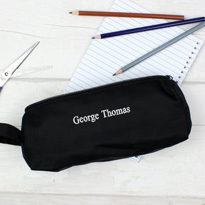 Personalised Black Pencil Case