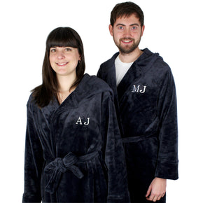 Personalised Initials Luxury Hooded Robe