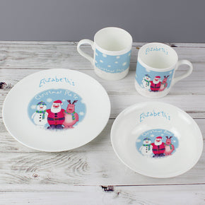 Personalised Snow Scene Breakfast Set