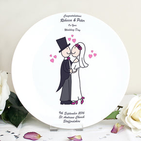 Personalised Cartoon Couple Plate
