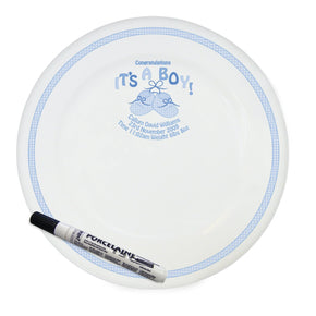 Personalised Bootee It's a Boy Message Plate